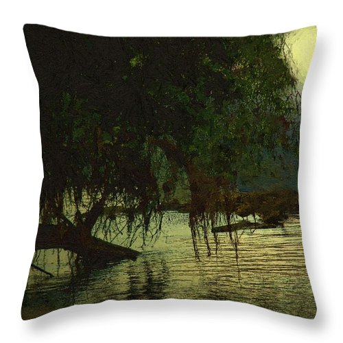 Landscape Throw Pillow featuring the painting I'll Be Waiting by RC DeWinter