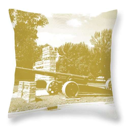 Quincy Illinois Throw Pillow featuring the photograph Illinois Veterans' Home Entry by Luther Fine Art