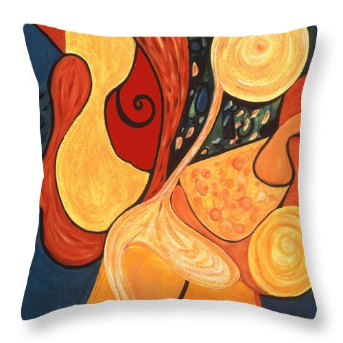 Abstract Art Throw Pillow featuring the painting Illuminatus 4 by Stephen Lucas