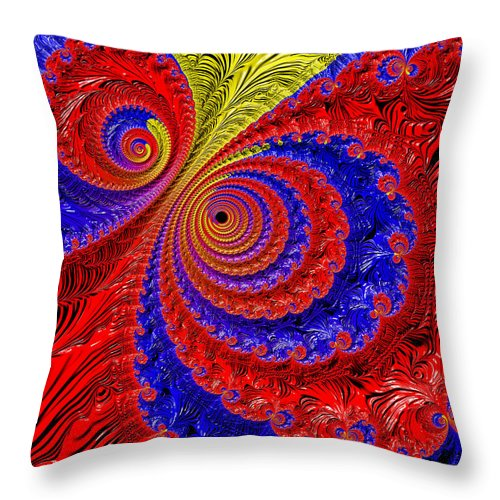 Fractal Throw Pillow featuring the digital art Illusions by HH Photography of Florida
