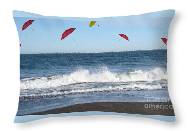 Umbrella Photograph Throw Pillow featuring the photograph Imagination Gone Wild by Beverly Guilliams