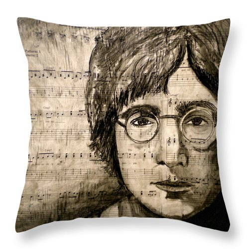 Imagine Throw Pillow featuring the drawing Imagine by Debi Starr