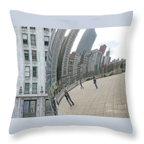 Chicago Throw Pillow featuring the photograph Imaging Chicago by Ann Horn