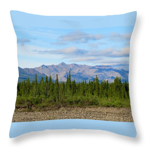 Alaska Throw Pillow featuring the photograph Imminent Riverbed by Michael Anthony