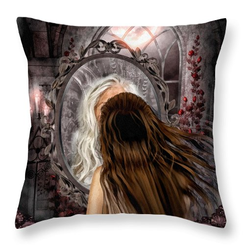 Immortality Throw Pillow featuring the painting Immortality by Mo T