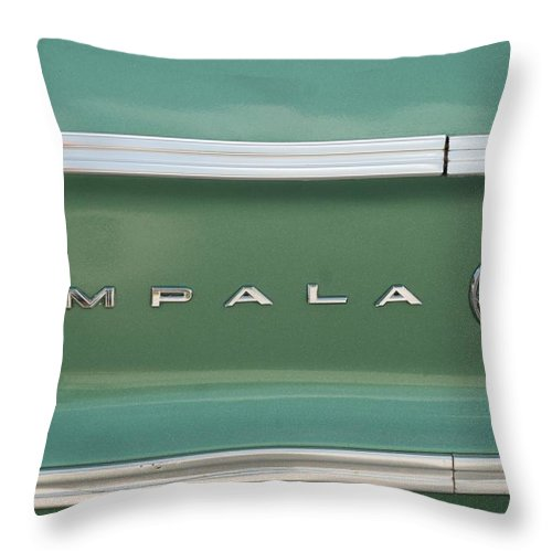 Chevrolet Throw Pillow featuring the photograph Impala Quarter Panel by Rob Hans