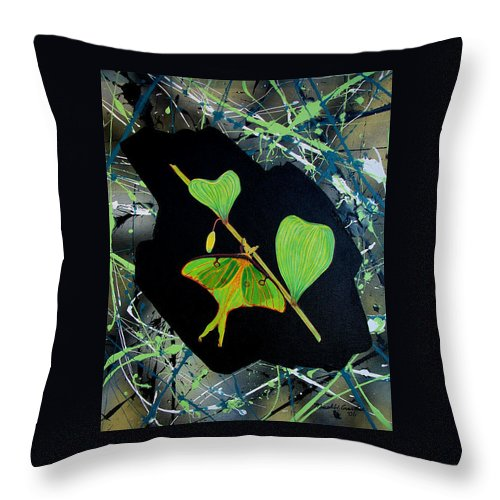Abstract Throw Pillow featuring the painting Imperfect III by Micah Guenther