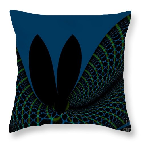 Abstract Throw Pillow featuring the digital art Impermanence On The Time Space Continuum by Peter R Nicholls