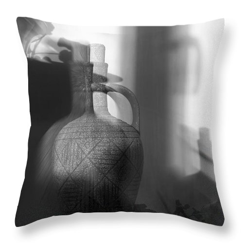 Jug Throw Pillow featuring the digital art Impression by Sviatlana Kandybovich