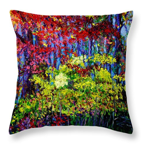Impressionism Throw Pillow featuring the painting Impressionism 1 by Stan Hamilton