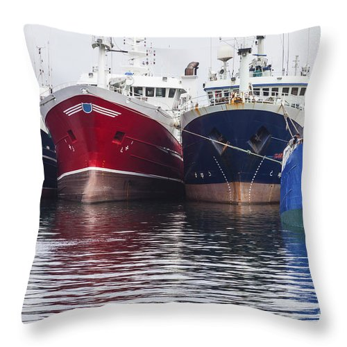 Fraserburgh Throw Pillow featuring the photograph In A Row by Diane Macdonald