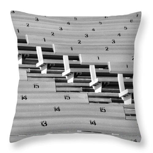 Stadium Throw Pillow featuring the photograph In An Orderly Fashion by Joe Kozlowski