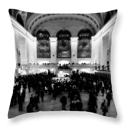 Grand Central Throw Pillow featuring the photograph In Awe At Grand Central by James Aiken