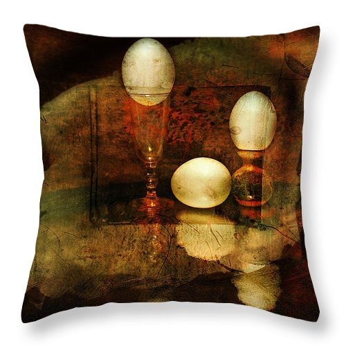 Eggs Throw Pillow featuring the photograph In Balance by John Anderson