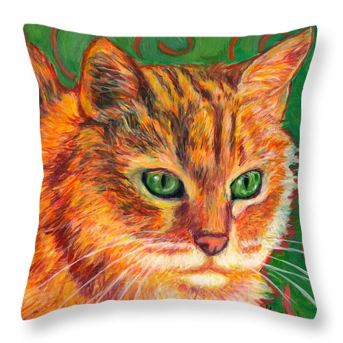 Cats Throw Pillow featuring the painting In Charge by Kendall Kessler
