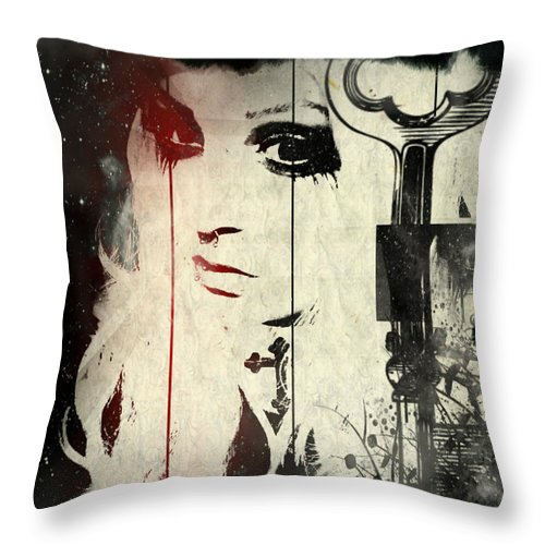 Portrait Throw Pillow featuring the photograph In Cloth by Kevin Hunt