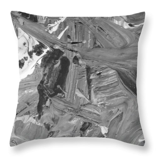 Original Throw Pillow featuring the painting In Fighting by Artist Ai