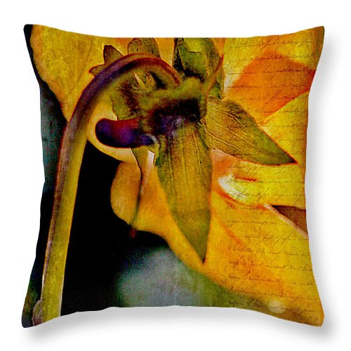 Pressed Throw Pillow featuring the photograph In Grandmother's Memory Book by Judi Bagwell