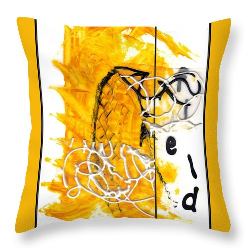 Throw Pillow featuring the mixed media in Motion by Lesley Fletcher