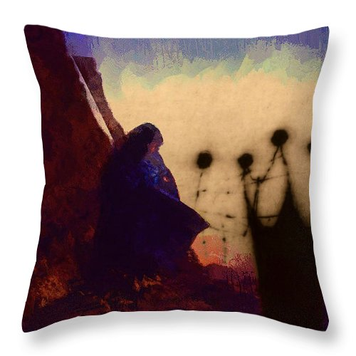 Quantum Throw Pillow featuring the digital art In Search Of The Quantum Bush by David Derr