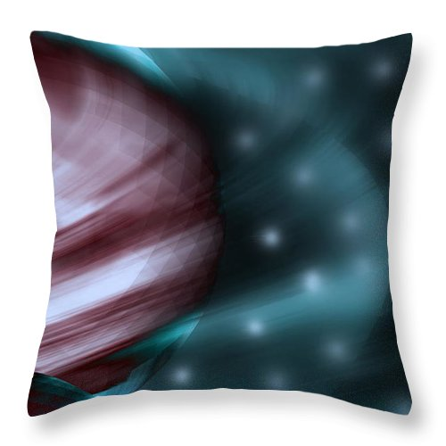 Space Art Throw Pillow featuring the digital art In Space by Linda Sannuti