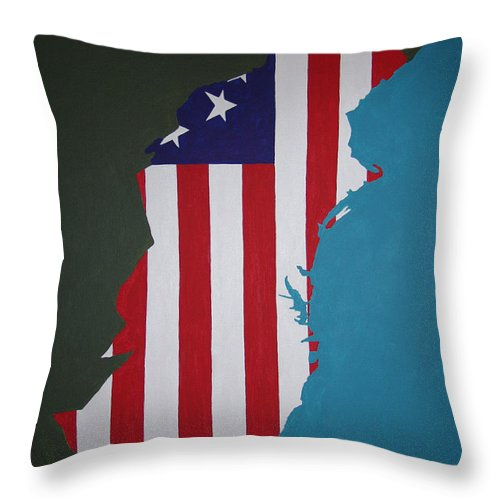 Painting Throw Pillow featuring the painting In The Beginning by Dean Stephens