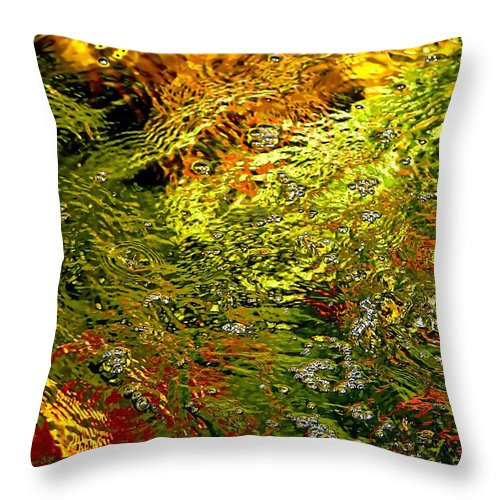 Abstract Throw Pillow featuring the photograph In The Flow 1 by Michael Durst