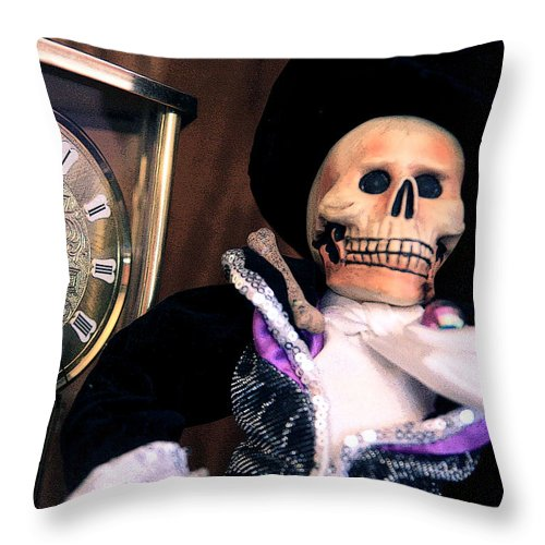 Day Of The Dead Throw Pillow featuring the photograph In The Fullness Of Time by Joe Kozlowski