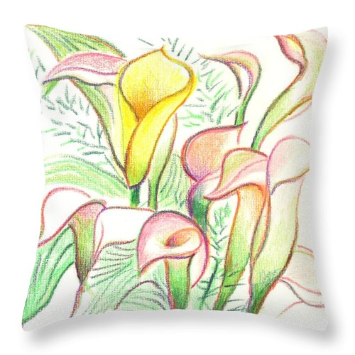 In The Golden Afternoon Throw Pillow featuring the painting In The Golden Afternoon by Kip DeVore