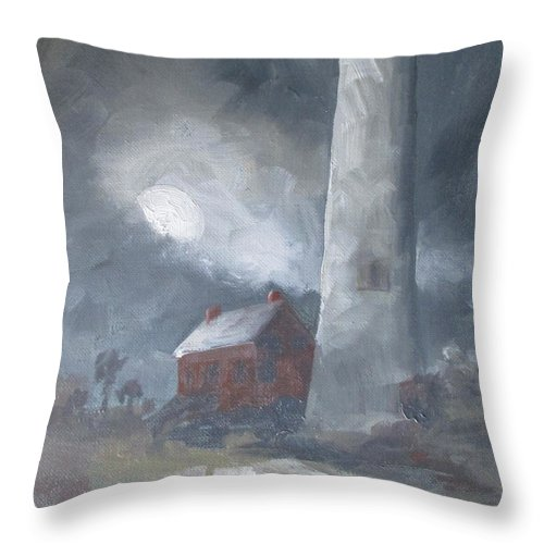 Full Moon Throw Pillow featuring the painting In The Misty Moonlight by Susan Richardson