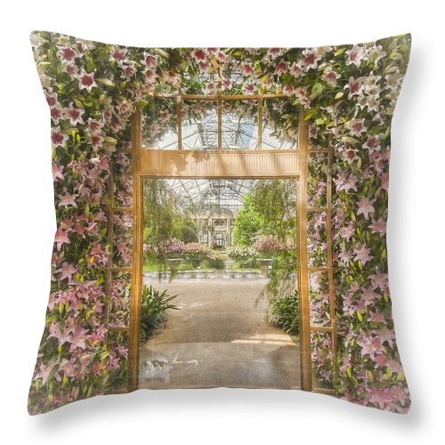 Conservatories Throw Pillow featuring the photograph In The Palace Of Dreams by Marilyn Cornwell