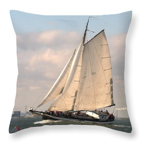 Digital Phhotography Throw Pillow featuring the photograph In The Race by Luc Van de Steeg