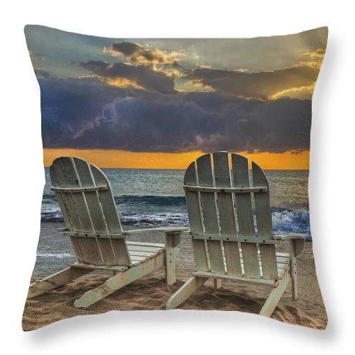 Zen Throw Pillow featuring the photograph In The Spotlight by Debra and Dave Vanderlaan