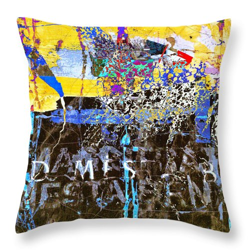Underworld Throw Pillow featuring the mixed media In The Underworld by Dominic Piperata