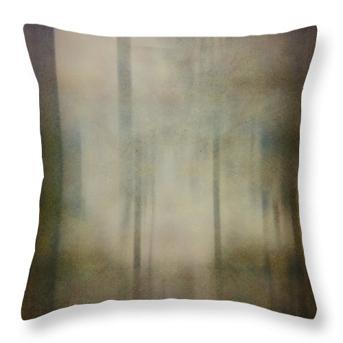 Tree Throw Pillow featuring the photograph In The Woods by Margie Hurwich
