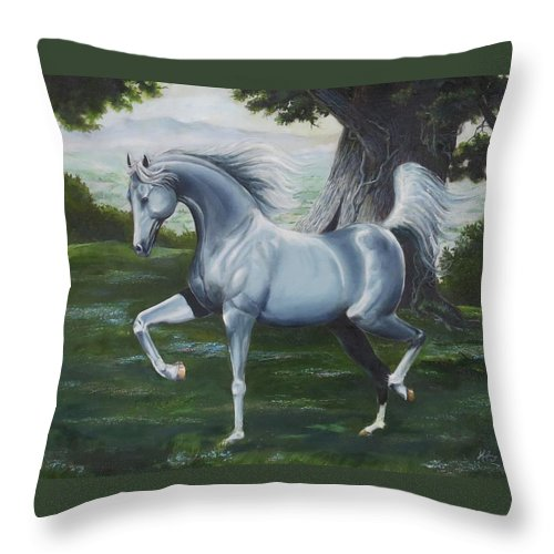 Horse Throw Pillow featuring the painting In Your Dreams by Danny Helms