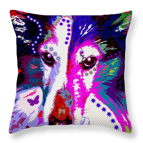 Dog Throw Pillow featuring the photograph In Your Eyes by Colleen Kammerer
