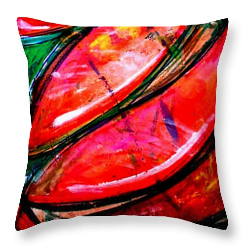 Inca Throw Pillow featuring the painting Inca by Marcello Cicchini