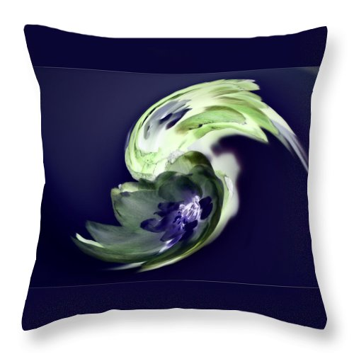 Abstract Phototgraphy Throw Pillow featuring the photograph Incana abstract 1 by Paulina Roybal