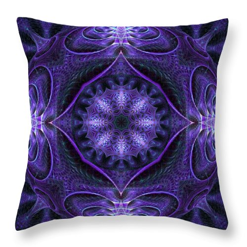 Kaleidoscope Throw Pillow featuring the digital art Indecision by Charmaine Zoe