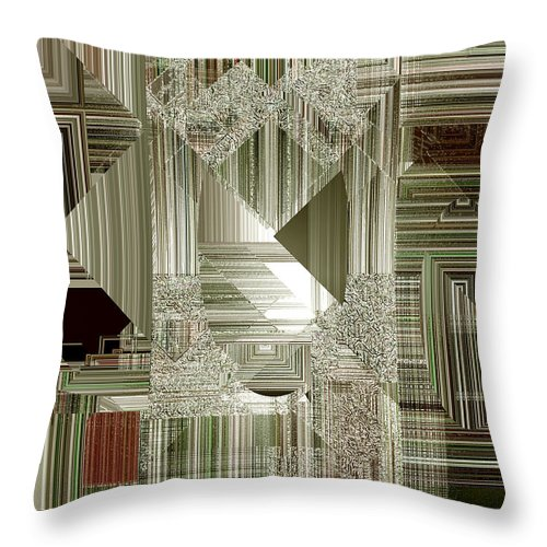 Abstract Throw Pillow featuring the painting Indecision I by RC DeWinter