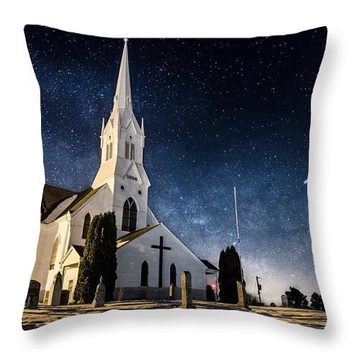 Indherred Church Throw Pillow featuring the photograph Indherred Church by Aaron J Groen