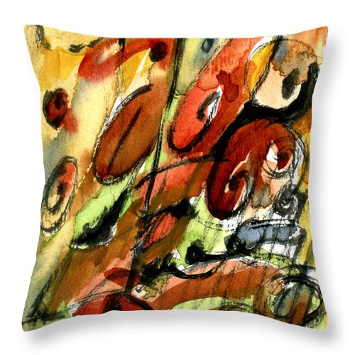 Abstract Art Throw Pillow featuring the painting Indian Summer by Stephen Lucas