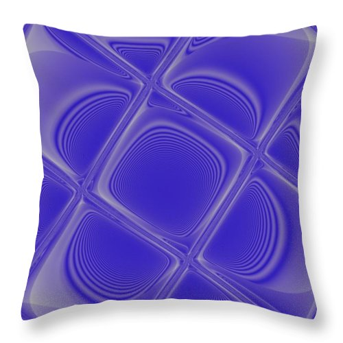 Geometric Throw Pillow featuring the digital art Indigo Petals Morphed by Pharris Art
