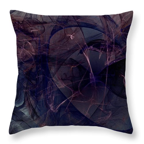 Abstract Throw Pillow featuring the digital art Industrial Genetic Engineering by Jeff Iverson