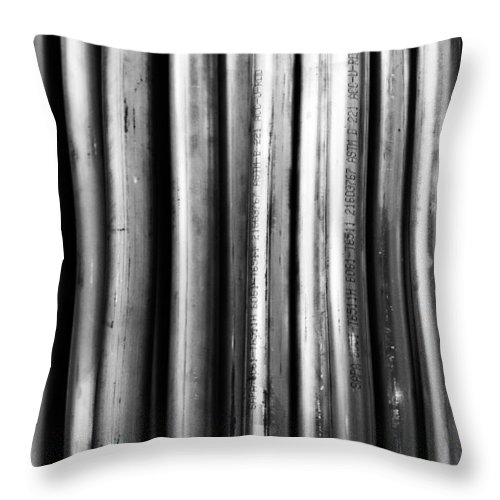 Pipe Throw Pillow featuring the photograph Industrial Lines by Robert Hayton
