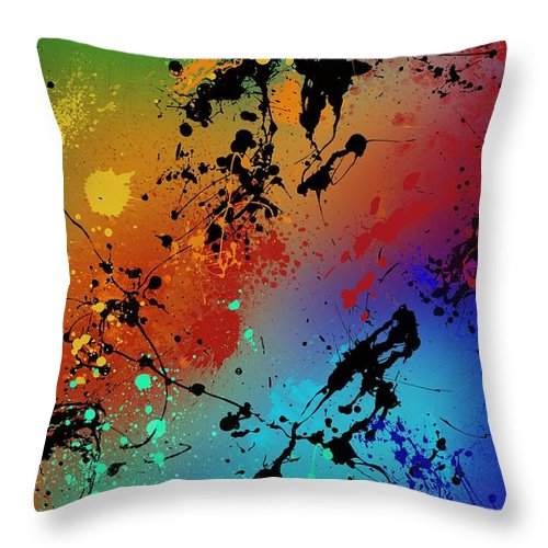 Original Throw Pillow featuring the painting Infinite M by Ryan Burton