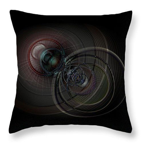 Infinite Throw Pillow featuring the digital art Echoes Of A Soul 1 by Linda Philipp