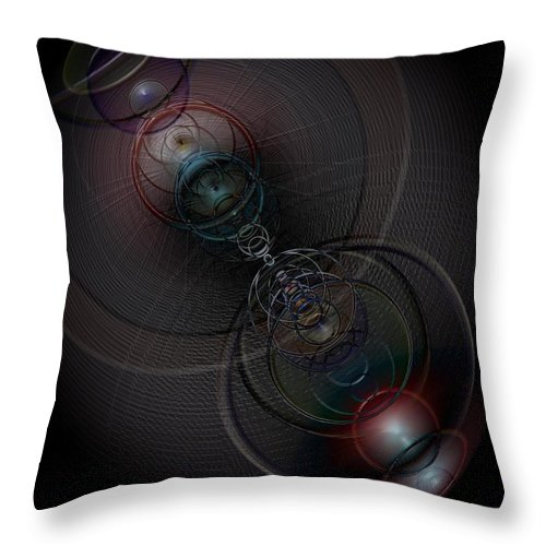 Space Throw Pillow featuring the digital art Echoes Of A Soul 2 by Linda Philipp
