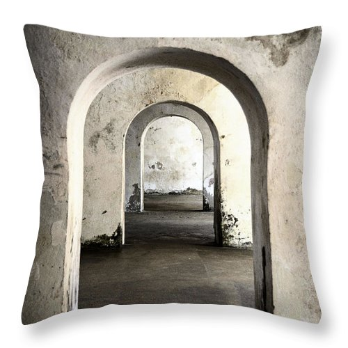 Trapped Throw Pillow featuring the photograph Infinity Doorway by Birgit Tyrrell